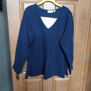 Denim & Co sweatshirt XL navy